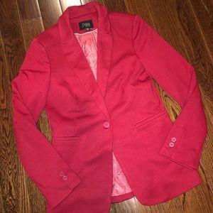 Red Ponte Knit Blazer